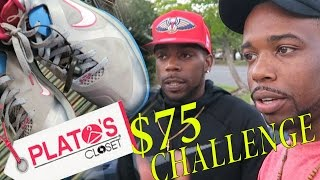 75 Shopping Challenge At Platos Closet Outlet With Friend Jordans Nik