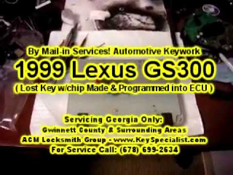 By Mail-in Services: 1999 Lexus GS300 - Lost Transponder Key Made & Key Programming into ECU!