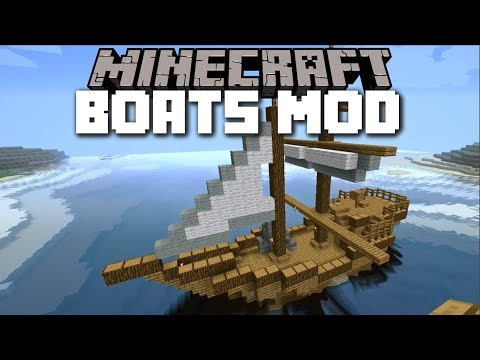 Minecraft BOAT MOD / TRAVEL WITH YOUR OWN HANDMADE BOATS!! Minecraft
