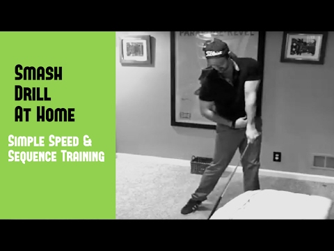 Golf Swing Drills At Home   Increase Swing Speed With The Smash Drill