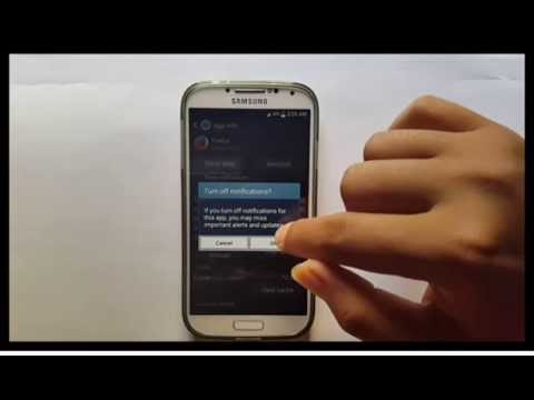 Samsung Galaxy S4 : How to stop notifications (Android Kitkat)