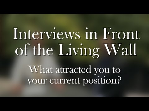 Living Wall Interviews: What attracted you to your current position?