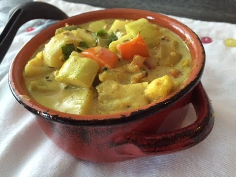 Easy Veg Coconut Curry Recipe   How to make coconut curry