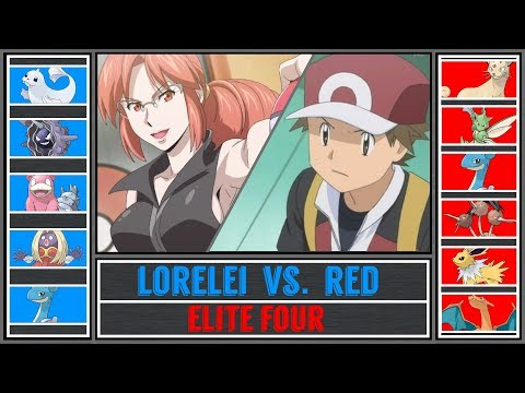 Red vs. Lorelei (Pokémon Sun/Moon) - Indigo Plateau/Pokémon League - Pokémon Origins