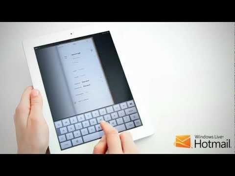 Hotmail kontakter og kalender på din iPad