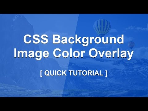 Css Background Image Color Overlay - Css Color Overlay Filter