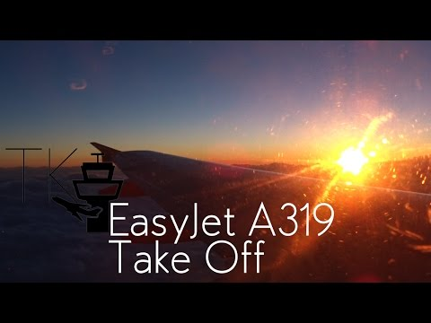 Easyjet Airbus A319 Stunning Sunset Take Off at Venice Marco Polo Airport (VCE)