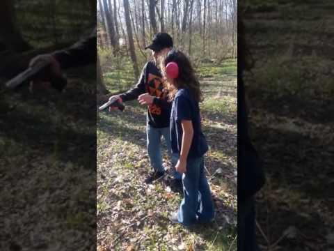 Teaching my girlfriend's daughter how to shoot. Screw a 50B