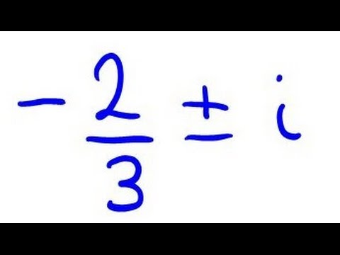 Find Quadratic Equation from Complex Roots