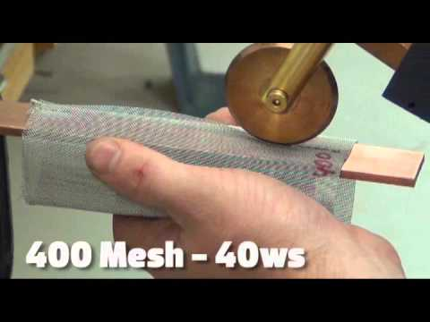 Roll Spot Micro Welding Stainless Steel Mesh Parts with Sunstone CD Welder and Hand Piece Attachment