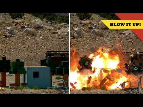 MINECRAFT In Real Life TNT Explosion!