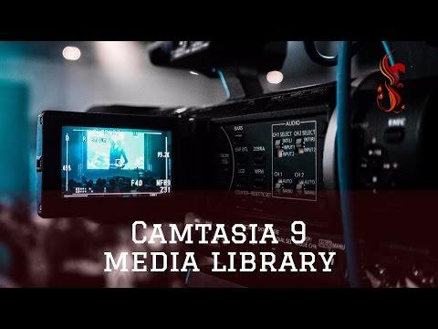 camtasia 9 media library