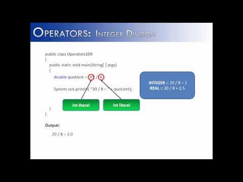 Operators Part 9: Integer Division (Java)