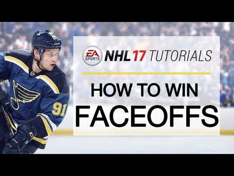 NHL 17 TUTORIALS | HOW TO WIN FACEOFFS