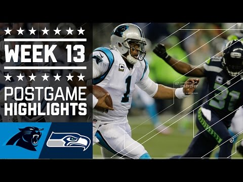 Panthers vs. Seahawks | NFL Week 13 Game Highlights