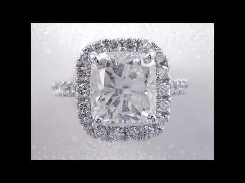 4.73 ctw Cushion Cut Diamond Engagement Ring - BigDiamondsUSA