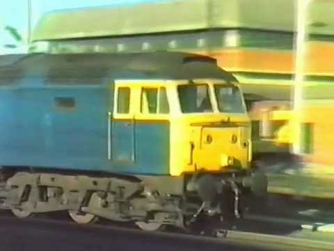 Trains  at Colchester in 1986