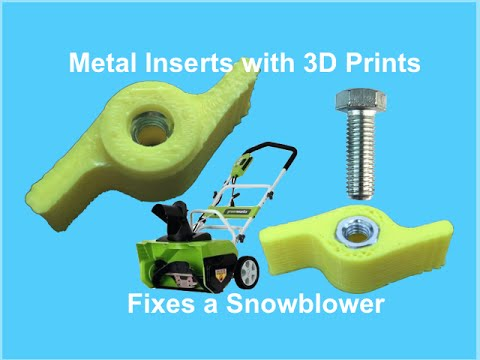 Metal Inserts on a 3D Print
