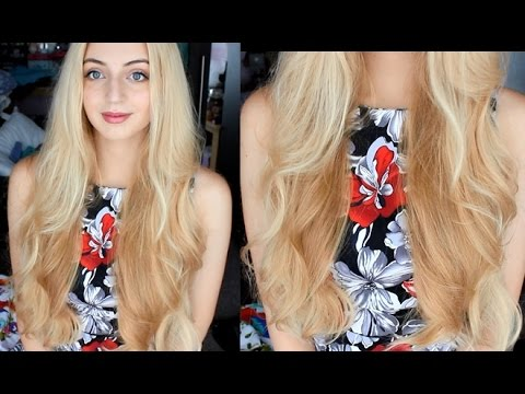 Heatless Wavy Hair - Styling long hair for bed