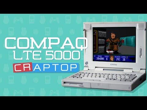 Compaq LTE 5000 DOS Laptop Teardown and Cleanup | Windows 95 Pentium Laptop