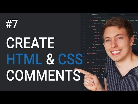 7: How To Create HTML and CSS Comments | Learn HTML and CSS | HTML Tutorial | CSS Tutorial