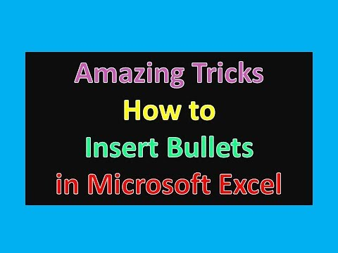 How to Insert Bullets in Microsoft Excel : Excel Tips and Tricks