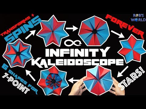 How to Make a Transforming INFINITY Kaleidoscope - Spins FOREVER!