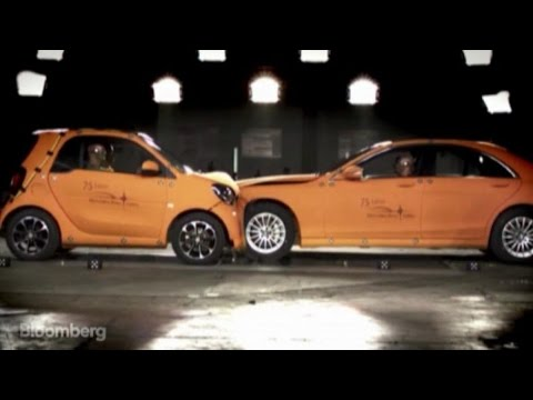 Head-on Collision: Mercedes vs. Smart Car