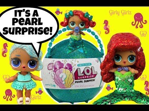 LOL Pearl Surprise Ball with Blind Bag Surprises 😍Color Change Mermaid Doll Video