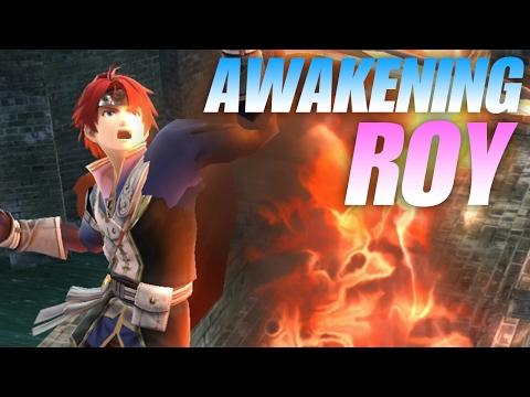 AWAKENING ROY (Project M) IN SUPER SMASH BROS! (Smash 4 Wii U Mods Skin Showcase)