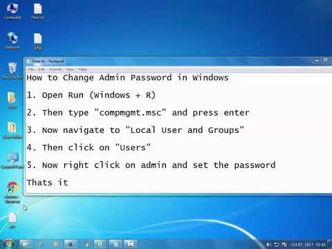 How to Change Admin Password in Windows