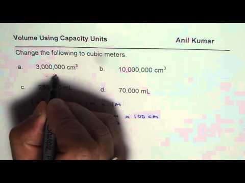 Convert Capacity Units to Meter Cube