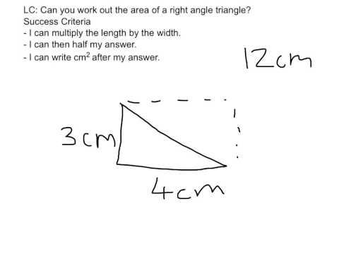 Area of a right angle triangle
