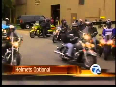 Motorcycle helmets now option in Michigan