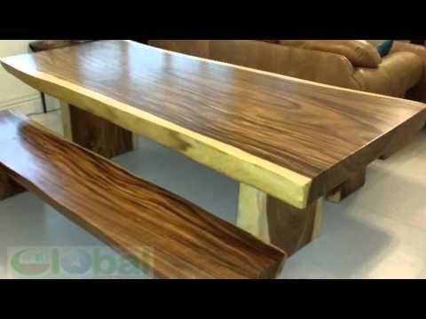 Live edge Suar wood dining table slab