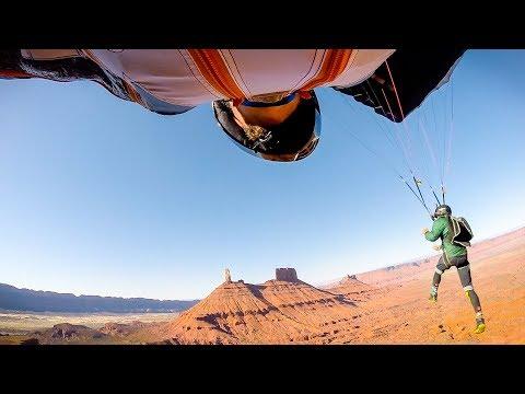 Wingsuit Flyby - 100mph