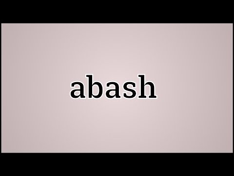 What Abash Means