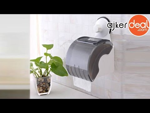 Waterproof toilet tissue paper Roll Container | Tissue paper holder with Cover