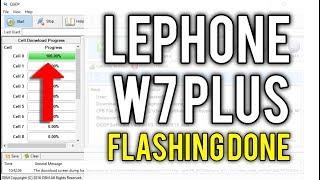 LEPHONE W7 FLASHING/ HOW TO FLASH LEPHONE W7 - PakVim net HD