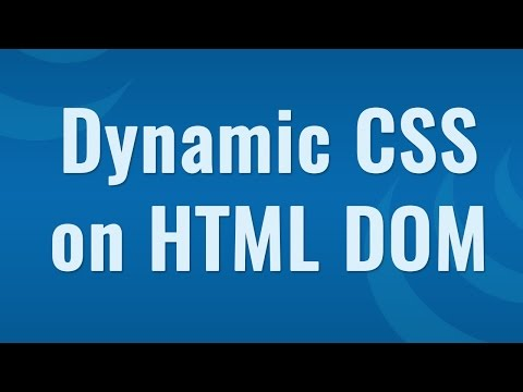 Dynamic CSS by CSS method - Learn JQuery in Hindi