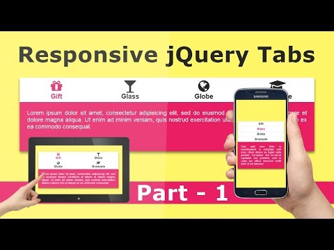 How to Create Simple jQuery Tabs -  Responsive Tabs using Css and jQuery - Part 1