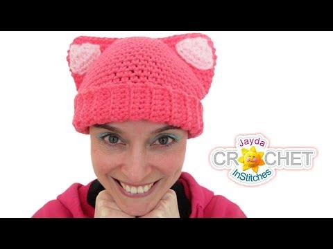 Cat Ears Hat Crochet Tutorial - for Adults & Kids!