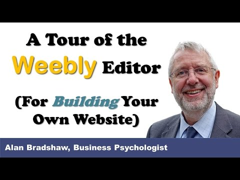 Weebly editor: A tour of the Weebly editor for building your own website