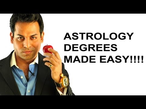 Astrology lesson 2: Astrology degree of planets and signs made easy (What are degrees in astrology)