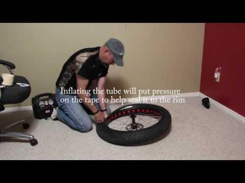 Mulefut 80 SL Fat bike tire tubeless conversion.