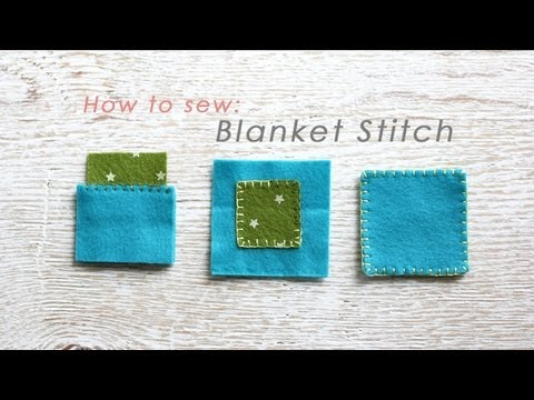How to hand-sew a blanket stitch for 3 different seams