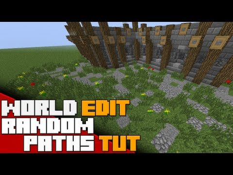 Minecraft - World Edit Tutorial - Randomized Paths with Brushes! - 2017