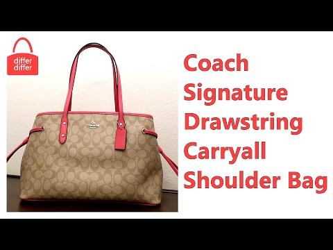 Coach Signature Drawstring Carryall Shoulder Bag 57842