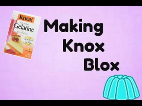 Cooking Things- Making Knox Blox