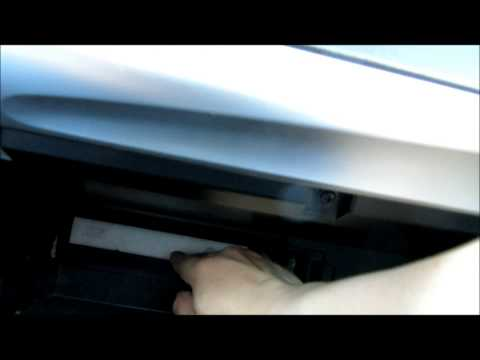How to change cabin pollen filter on 2012-2014 Toyota Camry